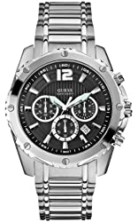 GUESS Men's U0165G1 Chronograph Stainless Steel Sport Watch