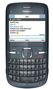"Nokia C3 - Móvil libre (pantalla de 2,4"" 320 x 240, cámara 2 MP, 55 MB de capacidad, teclado QWERTZ, S.O. Symbian) color negro [importado de Alemania]"