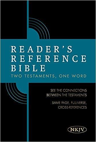 Reader's Reference Bible: NKJV Edition, Hardcover: Holman