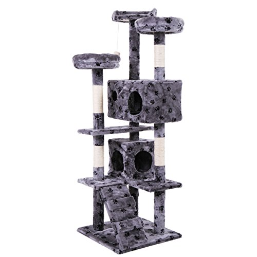 Tobbi 5 Levels Cat Tower Tree House Kitty Scratcher Play House Furniture W/Toys by Tobbi
