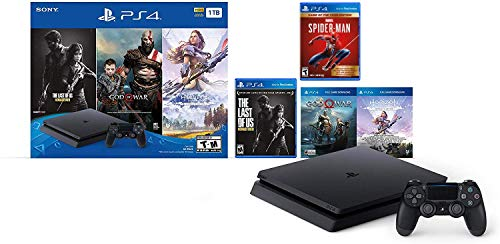 Holiday Ultimate Bundle Playstation 4 1TB Slim- Jet Black