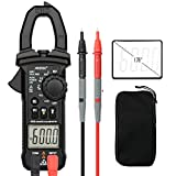Digital Clamp Meter Multimeters AUTOLOVER 6000 Counts AC DC Auto-Ranging Multimeter Current Voltage Voltmeter with Voltage, AC Current, Amp, Volt, Ohm, Diode and Resistance Test Tester