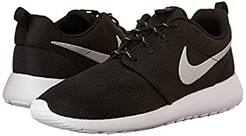 Nike Womens Roshe One Running Shoe Blackmetallic Platinumwhite (9) 5