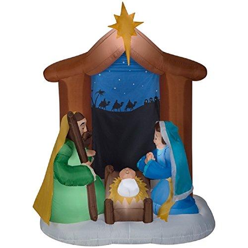 Holiday Living Airblown Nativity Scene -
