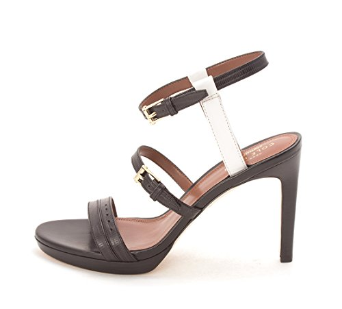 Cole Haan Womens Taytesam Open Toe Casual Ankle Strap Sandals Black/White CbXnhFs