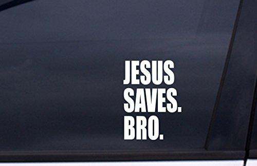 JESUS SAVES BRO Sticker 5.5