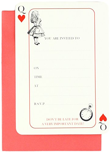Talking Tables Alice In Wonderland Party Supplies | Invitations With Envelopes | Great For Mad Hatter Tea Party Birthday Party And Baby Shower | Paper 10 Pack