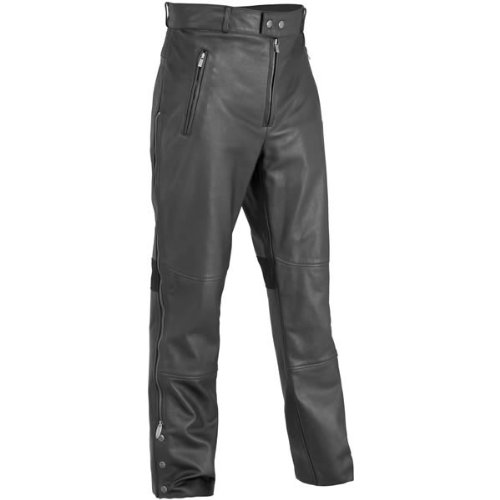 River Road Bravado Leather Overpants , Distinct Name: Black, Apparel Material: Leather, Primary Color: Black, Size: 44, Gender: Mens/Unisex XF-09-3618
