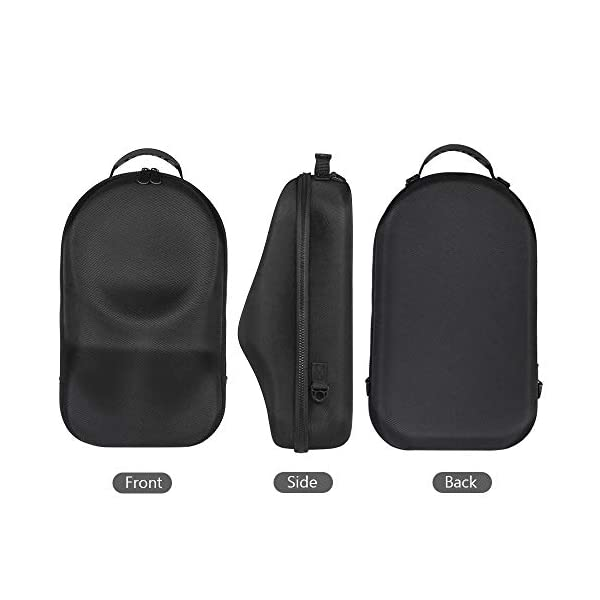 HIJIAO Hard and Concise Travel Case for Oculus Rift S PC-Powered VR Gaming Headset (Black) 7