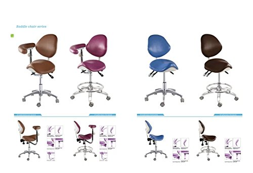 APHRODITE Standard Dental Mobile Chair Saddle-1 Doctor's Stool PU Leather Dentist Chair from Aries Outlets by Aphrodite (Image #4)