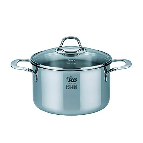ELO Cookware Silicano Plus Stainless Steel Kitchen Induction Cookware Pots and Pans Set, 7-Piece