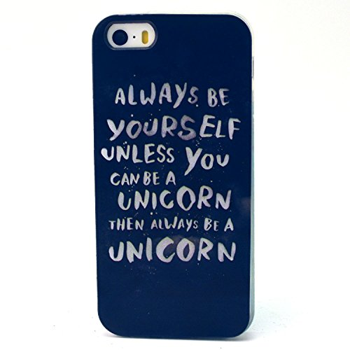 Iphone 5C Case,Colorful Pattern Scratch-Proof Sof TPU Gel Slim Snap On Case for iphone5C(Always be yourself)