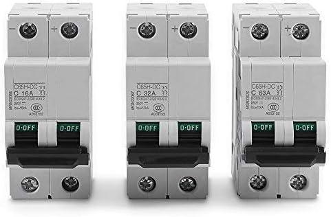 2P DC 1000V Solar Mini Circuit Breaker 3A 6A 10A 16A 20A 25A 32A 40A 50A 63A DC