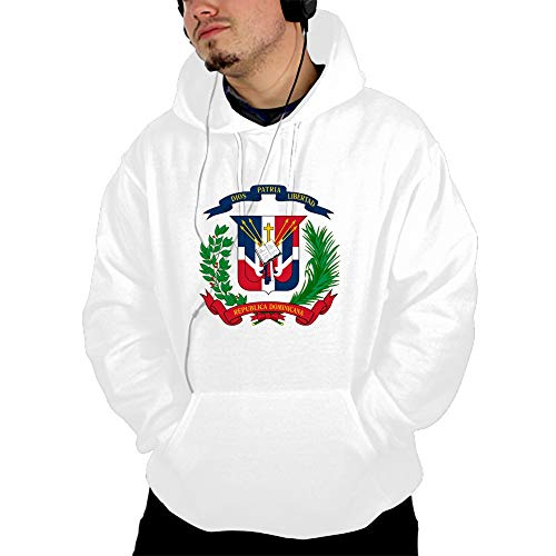 - EHLMGSC Men's Coat of Arms Dominican Republic Hoodie Camping Outdoor Hooded Sweatshirt