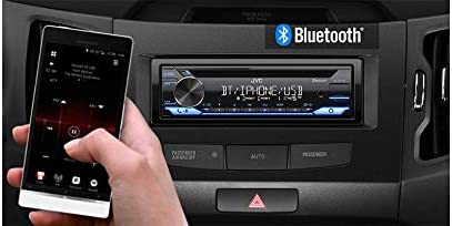 Alexa Connectivity with Magnet Phone Holder Front USB JVC KD-TD71BT CD Receiver Featuring Bluetooth AUX