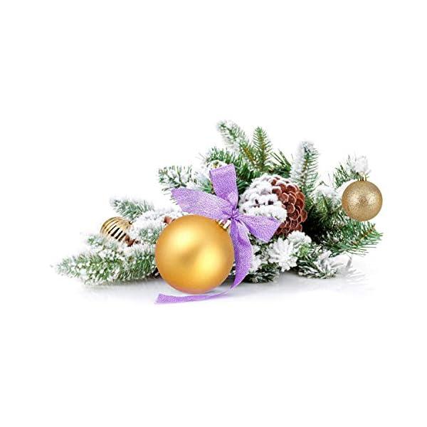 himaly 32 Pezzi Tradizionale Rosso e Oro Accessori per la Decorazione Palle di Natale Anti Goccia con Imbracatura,Adatto per Natale, Matrimonio, Fidanzamento, Anniversario, Festa 7 spesavip