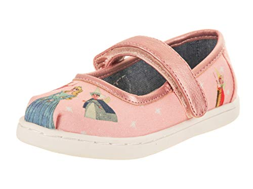 TOMS Kids Baby Girl's Mary Jane Disney¿ Princesses (Infant/Toddler/Little Kid) Pink Sleeping Beauty Printed Canvas 5 M US Toddler