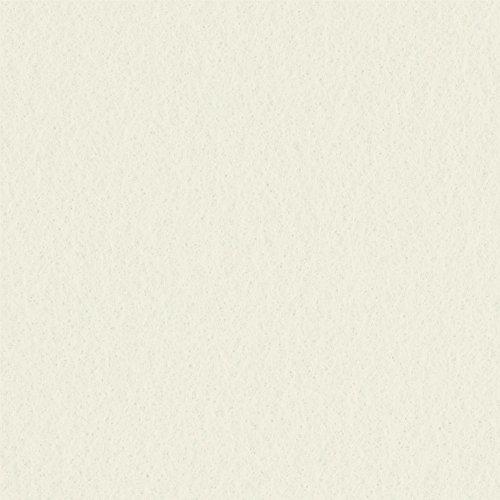 Ivory Solid Felt Fabric / 72