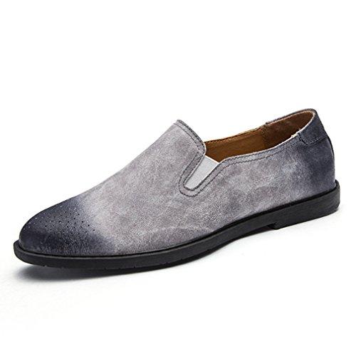 Feidaeu Loafers Hommes Mocassins Suédé Fin Ultra-Léger Basse Anamorphique Confortable Outdoor Loisir Inodore Chaussures Gris sYfKtu