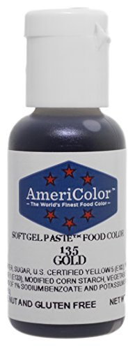 AmeriColor Soft Gel Paste - Gold Food Coloring, .75 Ounce ()