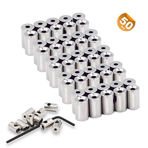 EuTengHao 50 Pieces Pin Keepers Pin Locks Pin Backs Locking Clasp Locking Pin Keeper Backs (9mmx5.5mm,Silver), Perfect Replacement for Disney Locking Pin Backs ()