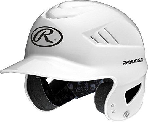 Rawlings Coolflo Molded Baseball Batting Helmet, White, One Size