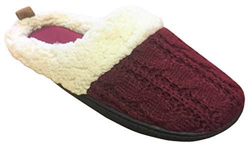 Clog Women's Slippers Dearfoams Knit Cabernet Cable ttO0wR