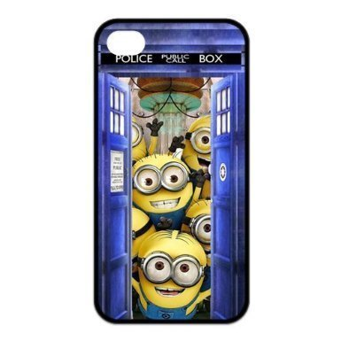 [PanBox 2014 NEW Creative Tardis Police Box and Minions Best Durable RUBBER Silicone APPLE iPhone 4 4s Case - Snap On Cover for iPhone] (Dog Costume Carrying Gift Video)