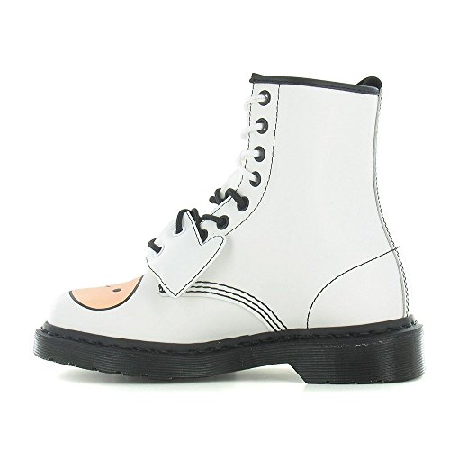 Martens Finn White Dr Boots Leather Unisex White Eyelet 8 Time Adventure d5PxPqw7p