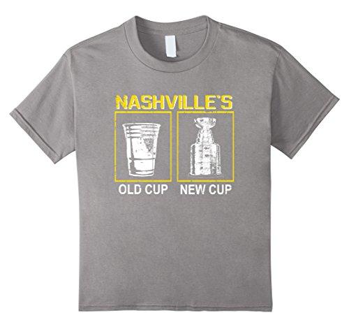 4 Piece Grilling (Kids Vintage Distressed Hockey Playoffs T-Shirt 4 Slate)