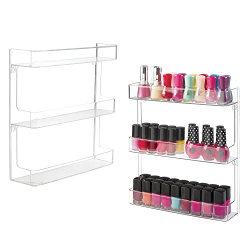 MDesign Wall Mount Nail Polish Rack
