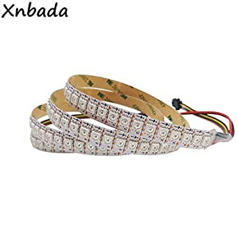 1 M/2 M/3 M/4 M/5 M Led Pixel Strip Apa102,30/60/144 LEDs/Pixels/M Ip30/Ip65/Ip67 Data and Clock Seperately Dc5 V - (Emitting Color: Withe PCB, Color: IP30 Non Waterproof, Wattage: 2M 144LED)