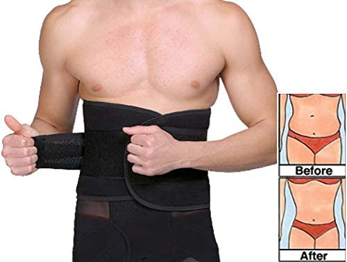 UTRAX Sweating Adjustable Weight Loss Slimming Belt Waist Trimmer Back Support for Men Women 3
