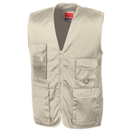 (Result Mens Safari Wasitcoat Jacket (XL) (Camel))