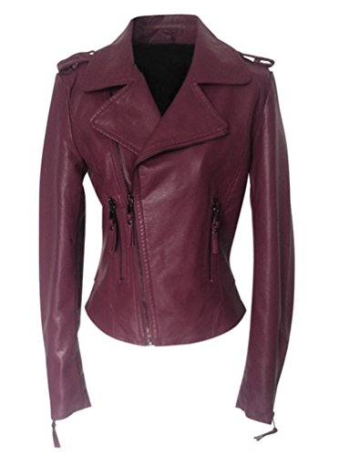 simili Blousons Veste femme biker style blouson SLP Veste cuir Fermeture Ghope de en wqPz4x