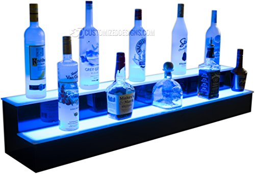 84'' 2 Step Commercial Grade LED Lighted Bottle Display - Remote Control LED Lighting by Customized Designs (Image #1)