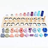 CYNDIE Toys Baby Kids Wooden Number Shape Cognition Match Math Toys