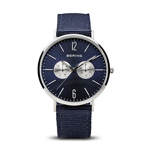 BERING Time 14240-507 Classic Collection Watch with Nylon Band and Scratch Resistant Sapphire Crystal. Designed in Denmark.