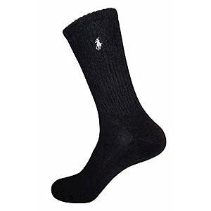 Polo Ralph Lauren Crew Sport Socks 6-Pack, One Size, Black
