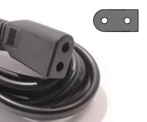 TacPower Solid Flat Figure 8 Black AC POWER Cord 6ft for ...