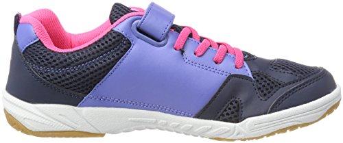 GEKA Sport Vs, Zapatillas de Deporte Interior Para Mujer Azul (Marine/lila/pink Marine/lila/pink)