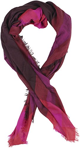 Coach Women's Outlet Windowpane challis Scarf Plum by Coach