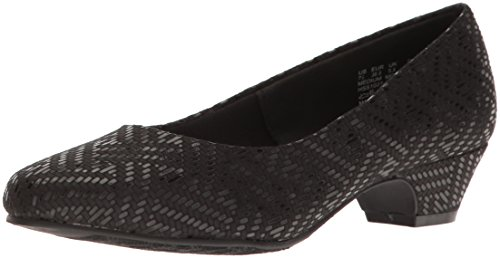 Soft Style by Hush Puppies Women's Angel II Dress Pump, Black, 12 W (Ladies Wide Dress Shoes)