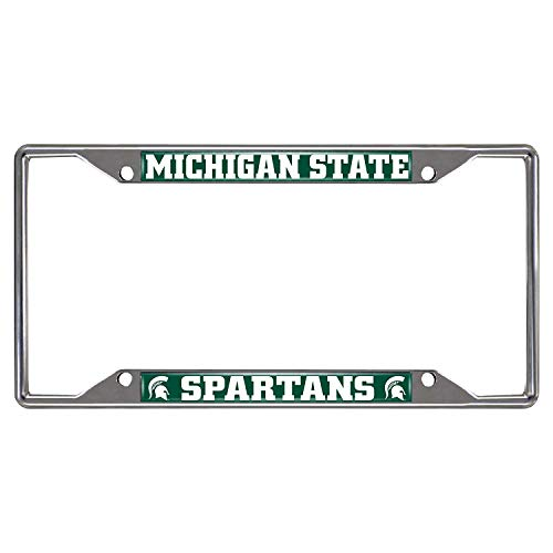 Michigan State Spartans Colored Metal License Plate Frame
