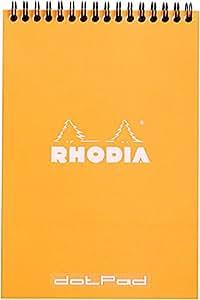 Rhodia Wirebound Pad 5X8.3 Orange Dot