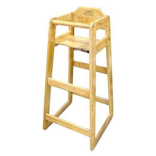 Winco CHH-601 Wooden 19 x 20 x 41' Pub Height High Chair