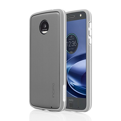 Price comparison product image Moto Z Force Droid Cases, Incipio[Low Profile][Impact Resistant] Co-Molded Bumper for Moto Z Force Droid-Silver