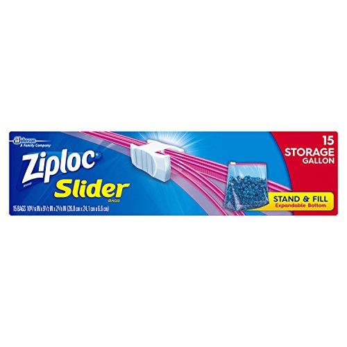 Ziploc Zipper Storage Gallon 15 pack