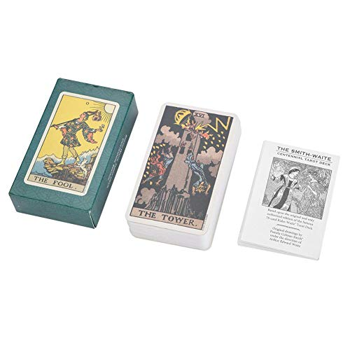 Haofy Tarot Deck Future Telling Game Card Set with Colorful Box Vintage 78Pcs/Set (#2) -