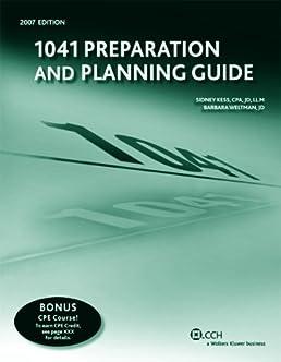 1041 preparation and planning guide sidney kess 9780808015055 rh amazon com